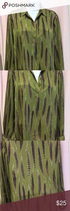 W.once Michael Kors dress shirt. Soft silky L/S dress shirt. Excellent condition great Kors quality. KORS Michael Kors Tops Blouses