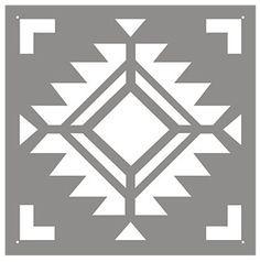 navajo four corners tile stencil more navajo stencil 1