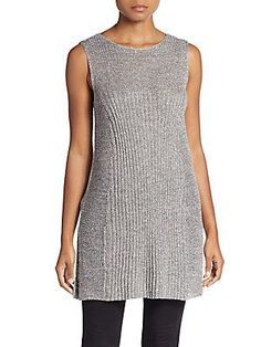Eileen Fisher Metallic Chainmail Tunic - Pewter - Size X Small (Edit)