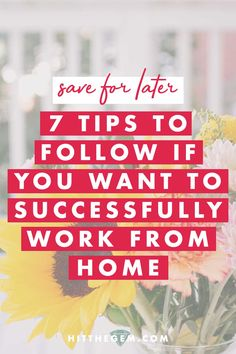 If you're adjusting to working from home or looking to improve your remote routine, try out this list of best tips for how to successfully work from home. Work From Home Tips, Business Advice, Home Hacks, Starting A Business, Gem, Improve Yourself, How To Become, Posts, Group