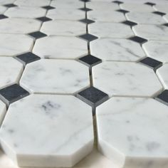 The Bianco Carrara White Marble Octagon Mosaic, would look beautiful in any modern kitchen or bathroom. https://tilebuys.com/collections/bianco-carrara-marble/products/bianco-carrara-white-marble-octagon-mosaic-black-dot #tilebuys  #tilebuys2017 #luxurytiles #tiles #tile #mosaictile #waterjettile #diy #renovation #remodel #homeimprovement #remodeling #luxury #homedesign #interiordesigner #luxuryinteriors #luxurydecor #luxuryinteriordesign #interiorstyling #luxeinteriors #interiordesign…
