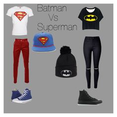 """Batman Vs Superman"" by americanidiot5 ❤ liked on Polyvore featuring Converse, Forever 21, batman and superman"