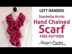 3 Minute Starbella Artic Hand Chained Ruffled Scarf - Left Handed - YouTube
