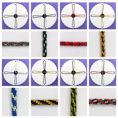 Best 11 Length of video – minutes Start of demo – minutes Braiding on the Round Kumihimo Disk Even experienced braiders may find something of interest in this video because it is packed full of the tips and tricks which have worked for me time a Braided Friendship Bracelets, Diy Friendship Bracelets Patterns, Diy Bracelets Easy, Woven Bracelets, Gold Bracelets, Bracelet Fil, Bracelet Crafts, Braid Patterns, Beading Patterns