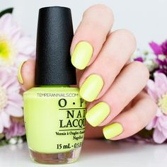 OPI Brights 2015 – Life Gave Me Lemons (re-release from OPI Neon 2014 Collection)
