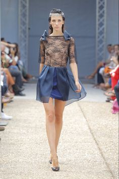 Beba´s Closet - Pasarela SS2013. This is cute. But. It needs a layer to cover up some stuff there.