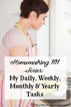 I always appreciate being able to look at examples for my home keeping tasks. I'm just sharing today in a simple list format my home keeping tasks broken down into daily, weekly, monthly, semi annual and annual tasks. @mferrell