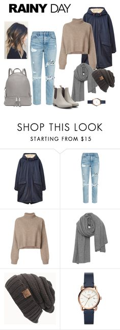 """""""A Day in the Rain"""" by fash2own ❤ liked on Polyvore featuring Joules, GRLFRND, Rejina Pyo, American Vintage, FOSSIL and Michael Kors"""