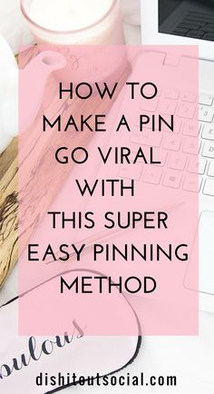 The one thing you need to make a pin go viral on Pinterest. Get more traffic to your blog with a viral pin and the super easy smartphone pinning system. The one tool that makes manual pinning simple. Learn how to use Pinterest to drive massive traffic to your blog. Increase your traffic with Pinterest. #socialmediatips