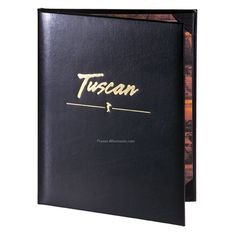 This Tuscan leather menu cover is a classic.