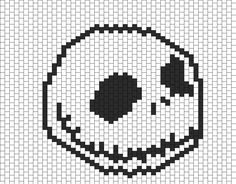 Jack Skellington Bead Pattern | Peyote Bead Patterns | Characters Bead Patterns