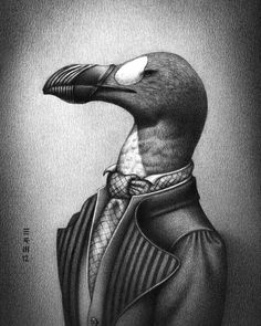 Extinct birds wearing fashions from the year they went extinct: http://io9.com/5920729/extinct-birds-wearing-fashions-from-the-year-they-went-extinct