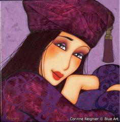 Carte Corinne REIGNIER Nina 14x14 cm - Blueart