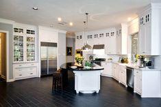 white granite countertops white cabinets - Google Search