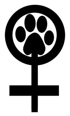 Feminist for animal rights and Vegan feminist symbol