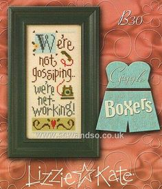 Buy We're Not Gossiping Chart/Fabric/Buttons Online at www.sewandso.co.uk