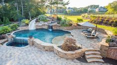Top 50 Pool Builder in USA. Top Premier Custom In-Ground Swimming Pool Designers Builders Outdoor Landscape Company Marietta Georgia Classic Pools. Small Backyard Pools, Backyard Pool Landscaping, Backyard Pool Designs, Swimming Pools Backyard, Swimming Pool Designs, Outdoor Pool, Semi Inground Pools, Landscaping Ideas, Pool Bar