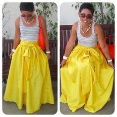 Love her style!! Need this skirt.