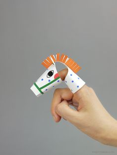 DIY: Printable finger puppet - Pipi's Horse / Mr Printables
