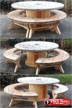 30 large patio table ideas for your home - DIY Furniture Bedroom Ideen Recycled Pallet Furniture, Recycled Pallets, Wooden Pallets, Wooden Diy, Pallet Wood, Outdoor Pallet, Pallet Couch, Recycled Wood, Outdoor Seating