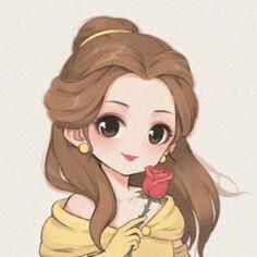 Kawaii Disney, Chibi Disney, Disney Princess Cartoons, Disney Princess Drawings, Disney Princess Art, Disney Princess Pictures, Disney Fan Art, Tinkerbell Disney, Punk Princess