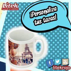 Personaliza tus tazas y dale color a la hora del cafesito!  Pregunta en línea ✅ #Litek #ExpertosEnImpresión #PiensaRojo #impresion #decoracion #vinil  #lona #anuncio #imprenta #invitaciones
