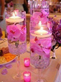 I love this with the flowers and candles