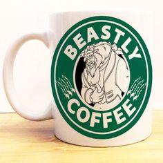 Beastly Coffee Mug | Beauty and the Beast Starbucks | Disney Prince