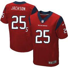 Nike Elite Kareem Jackson Red Men's Jersey - Houston Texans #25 NFL Alternate