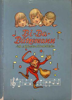 Aß man leckere Haferflocken, dann bekam man so etwas dazu. Koellnflockensammelalbum Bi-Ba-Butzenmann 1964