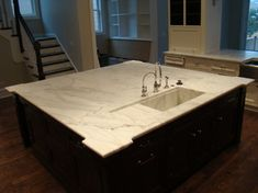 Custom Stone Counter tops ( Marble and Granite) - contemporary - kitchen islands and kitchen carts - chicago - by BECKER WORKS LTD