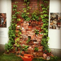 #Garden brick art at Mylly