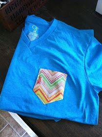 this & that: Pocket Patch Tshirt DIY
