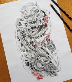 ños önnte könnte enthalten: 1 Person old school frases hombres hombres brazo ideas - Tattoo MAG Japanese Tattoos For Men, Japanese Dragon Tattoos, Japanese Tattoo Art, Japanese Tattoo Designs, Japanese Sleeve Tattoos, Foo Dog Tattoo Design, Japan Tattoo Design, Dragon Tattoo Designs, Tattoo Designs Men