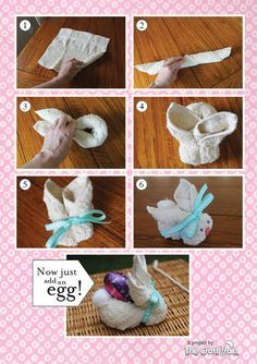 Flannel Easter Bunnies How to Bunnies wash clothFlannel Easter Bunnies How to We made these at the library with wash clothes. Cute way to make it even cuter Bunny Crafts, Cute Crafts, Easter Crafts, Crafts For Kids, Easter Gift, Easter Bunny, Felt Bunny, Easter Projects, Craft Projects