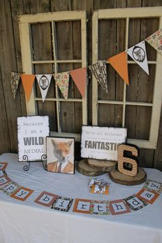 Fantastic Mr. Fox party decorations and by onecraftyfoxx on Etsy, $60.00