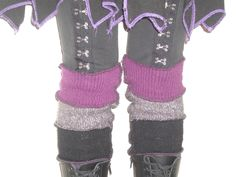 Upcycled Sweater Boot Cuffs/Socks Burgundy, Grey, Black. $30.00, via Etsy.