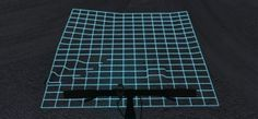 Concept design for a bike-light that projects a grid on the ground, highlightingbumps/holes