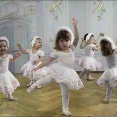 Baby ballerinas....
