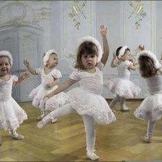Baby ballerinas.  Soooo sweet.