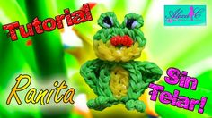♥ Tutorial: Ranita de gomitas (sin telar) ♥ Rainbow Loom Animals, Rainbow Loom Patterns, Kandi Patterns, Loom Bands Tutorial, Rainbow Loom Charms, Projects To Try, Crafts, Tutorials, Passion