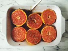 Broiled Grapefruit with Spices & Herbs