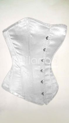 Pure White Imitated Silk Corset US$ 32.99