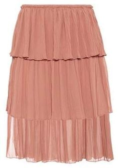 #ad See By Chloé Tiered knee-length skirt