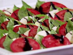 Get Caprese Salad Recipe from Food Network. Reduce balsamic to one cup for smaller serving.