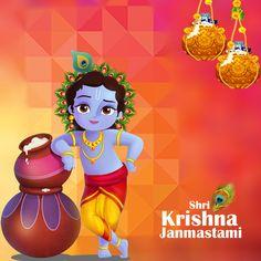 Happy Janmashtami Image, Janmashtami Images, Janmashtami Wishes, Bal Krishna, Cute Krishna, Beautiful Nature Pictures, Animals Beautiful, Om Namah Shivaya Mantra, Krishna Images