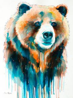 Grizzly bear  Art Print