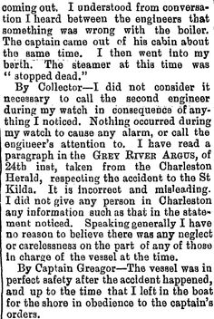 """""""The Accident to the S.S St. Kilda"""" Grey River Argus, 27/01/1883 Converse, St Kilda, Coming Out, Family History, January, Positivity, River, Shit Happens, Grey"""