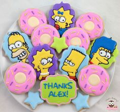 Simpson Thank You Cookies