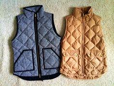 J Crew vests